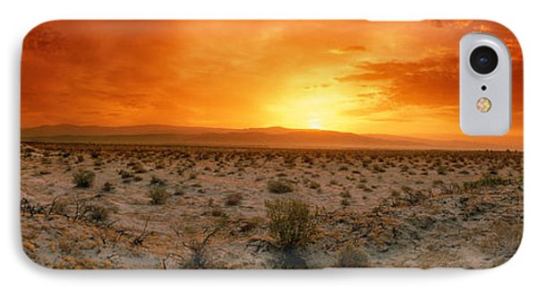 Sunset Over A Desert, Palm Springs IPhone Case by Panoramic Images