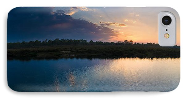 Sunset Over A Lake, Chitwan National IPhone Case