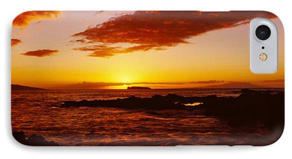 Sunset Over An Ocean, Oahu, Hawaii, Usa IPhone Case
