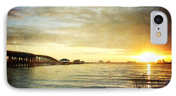 Sunset Over Biloxi Bay Phone Case by Joan McCool