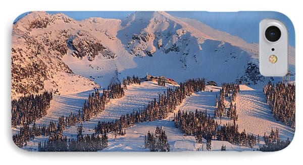 Sunset Over Blackcomb Mountain Phone Case by Pierre Leclerc Photography