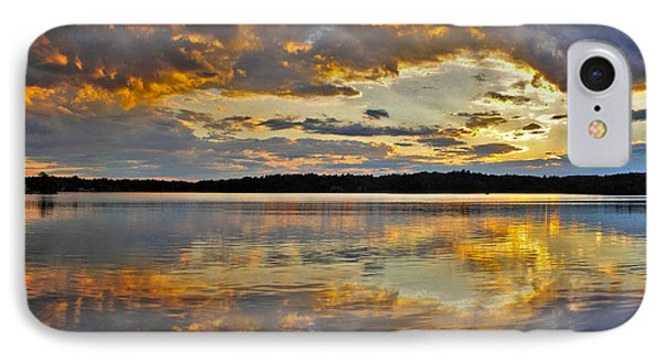 IPhone Case featuring the photograph Sunset Over Canobie Lake by Sebastien Coursol