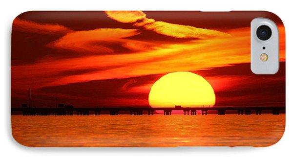 Sunset Over Causeway IPhone Case by Luana K Perez