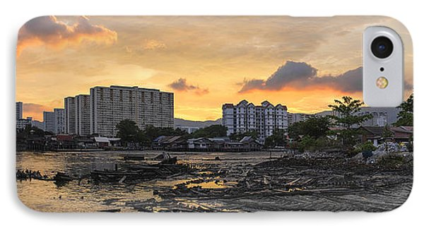 Sunset Over Georgetown Penang Malaysia IPhone Case by Jit Lim