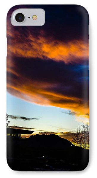 Sunset Over Granite Mountain And Ac1 IPhone Case by Alan Marlowe
