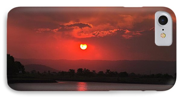 Sunset Over Hope Island IPhone Case by Blair Stuart