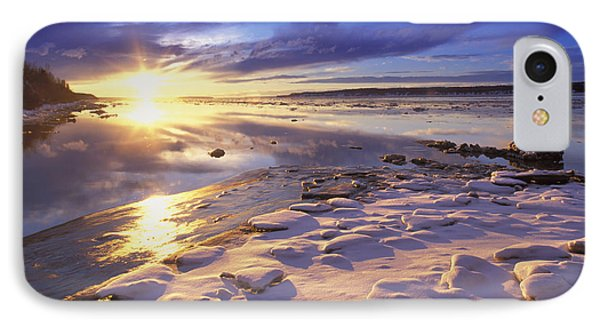 Sunset Over Knik Arm & Six Mile Creek Phone Case by Michael DeYoung