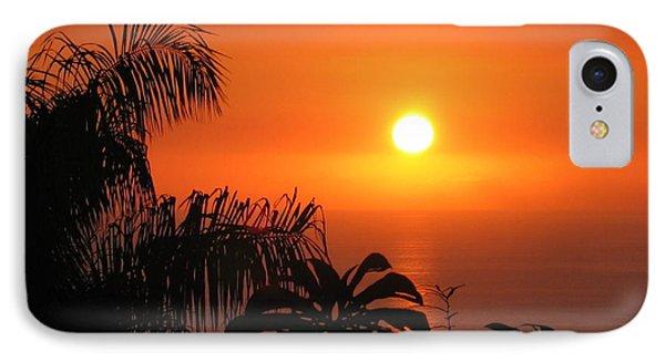 Sunset Over Kona Hawaii Phone Case by Sabine Edrissi