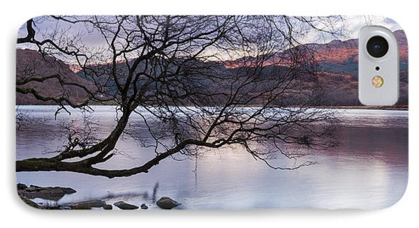 Sunset Over Lake Dinas IPhone Case by Trevor Chriss
