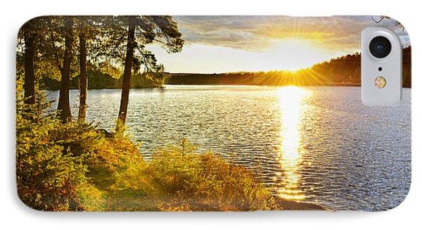 Sunset Over Lake Phone Case by Elena Elisseeva