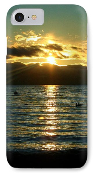 Sunset Over Lake Tahoe IPhone Case by Ellen Heaverlo