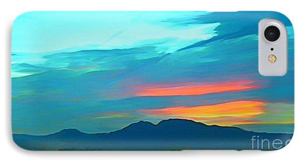 Sunset Over Las Vegas Hills Phone Case by John Malone