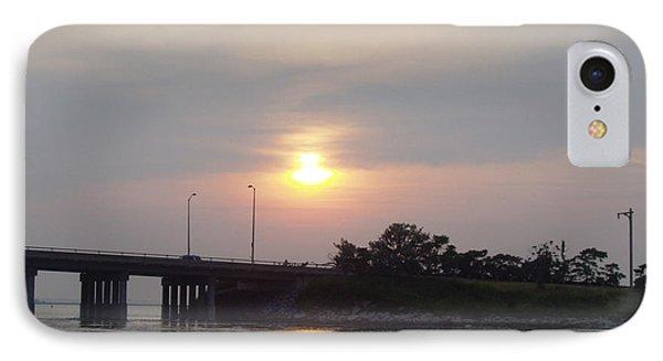 Sunset Over Meadowbrook Bridge Phone Case by John Telfer