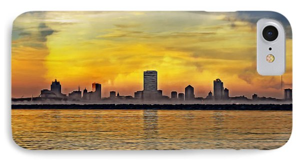 Sunset Over Milwaukee IPhone Case by Mary Machare