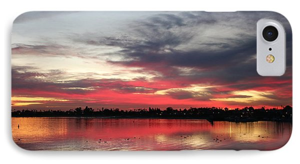 IPhone Case featuring the photograph Sunset Over Mission Bay  by Christy Pooschke