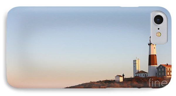 IPhone Case featuring the photograph Sunset Over Montauk Lighthouse by John Telfer