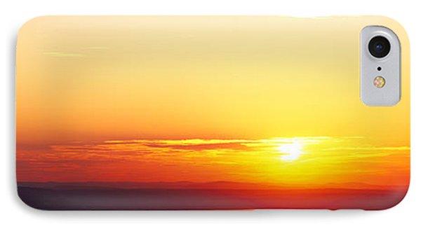 Sunset Over Mountain Range, Cadillac IPhone Case