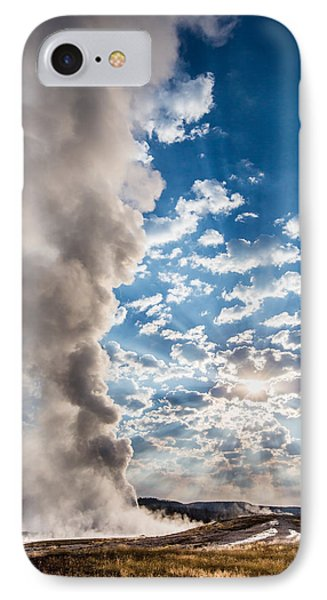 Sunset Over Old Faithful - Vertical IPhone Case