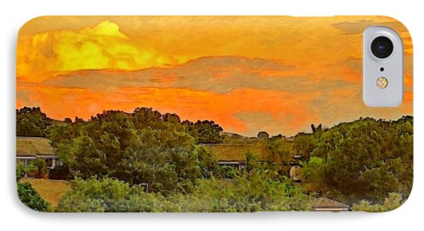 Sunset Over Orchard - Square IPhone Case
