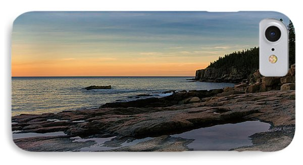 Sunset Over Otter Cliffs IPhone Case by Darylann Leonard Photography