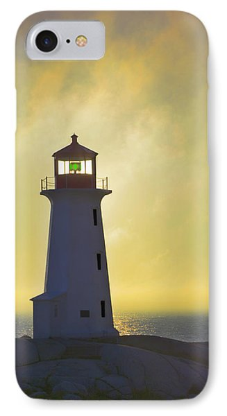 Sunset Over Peggys Cove Lighthouse Phone Case by Thomas Kitchin & Victoria Hurst
