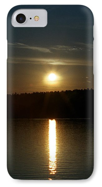 Sunset Over Pickerel River Sun 91 IPhone Case by G L Sarti