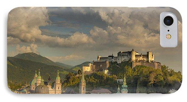 Sunset Over Salzburg IPhone Case by Chris Fletcher