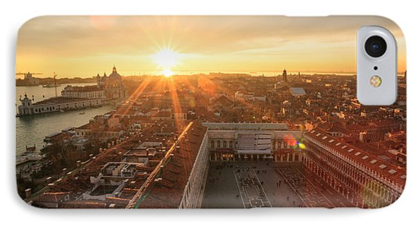 Sunset Over St Mark's Square Venice Italy IPhone Case by Matteo Colombo