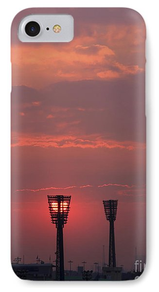 Sunset Over Stadium IPhone Case by Mohamed Elkhamisy