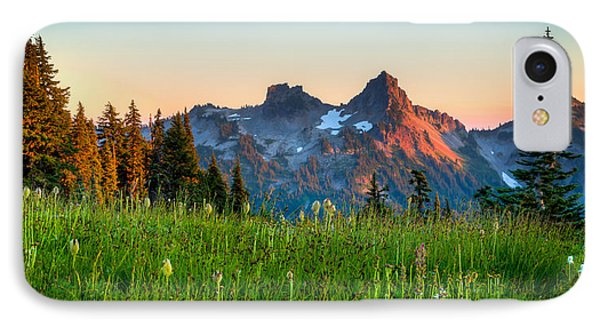 Sunset Over Tatoosh IPhone Case by Chris McKenna