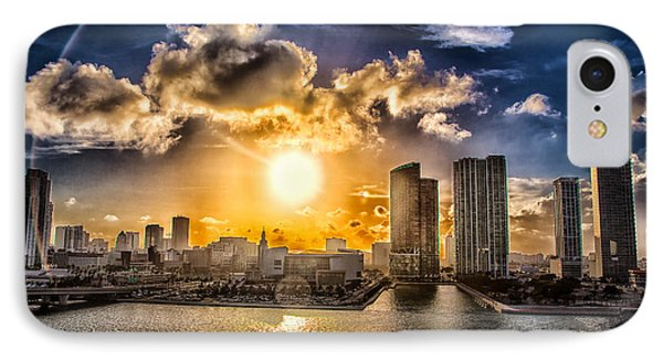 Sunset Over The Arena Hdr Phone Case by Rene Triay Photography