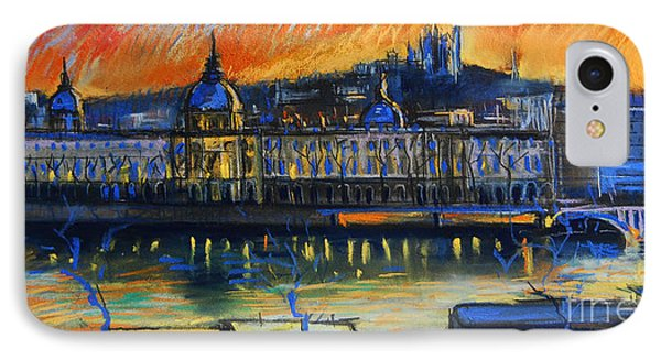 Sunset Over The City - Lyon France IPhone Case