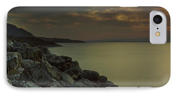 Sunset Over The Dead Sea, Arabah, Jordan IPhone Case by Panoramic Images
