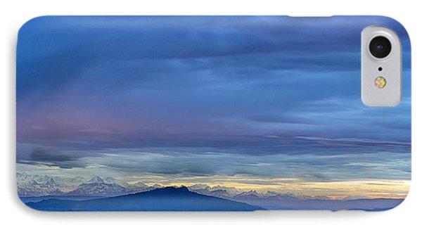 Sunset Over The European Alps Phone Case by Bernd Laeschke