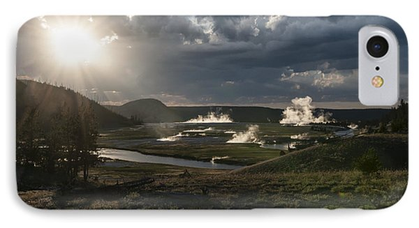 Sunset Over The Firehole River - Yellowstone Phone Case by Sandra Bronstein