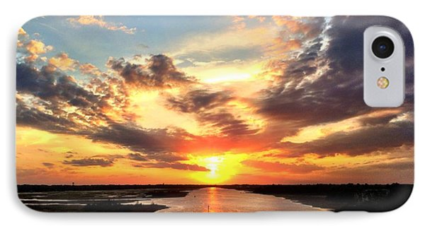 Sunset Over The Icw IPhone Case by Shelia Kempf