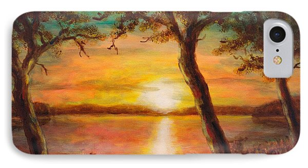 Sunset Over The Lake IPhone Case by Martin Capek