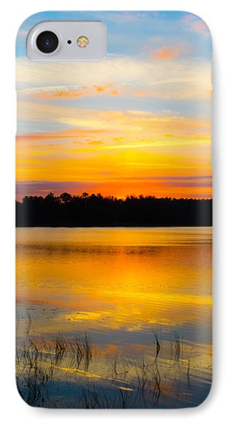 Sunset Over The Lake IPhone Case by Parker Cunningham
