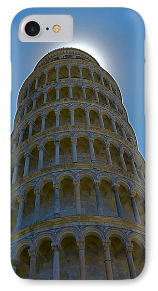 Sunset Over The Leaning Tower IPhone Case by Rita Mueller