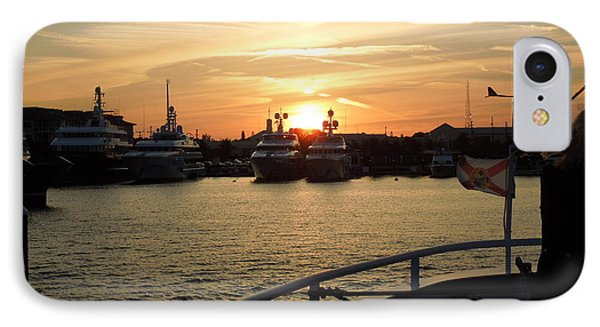 IPhone Case featuring the photograph Sunset Over The Marina by Ron Davidson