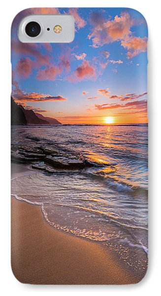Sunset Over The Na Pali Coast From Ke'e IPhone Case