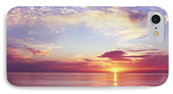Sunset Over The Ocean, Gulf Of Mexico IPhone Case by Panoramic Images