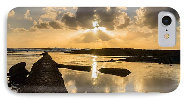 Sunset Over The Ocean I Phone Case by Marco Oliveira