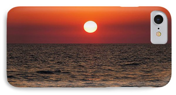 Sunset Over The Ocean IPhone Case by Jim Edds