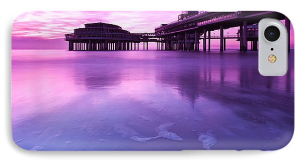 Sunset Over The Pier IPhone Case by Mihai Andritoiu