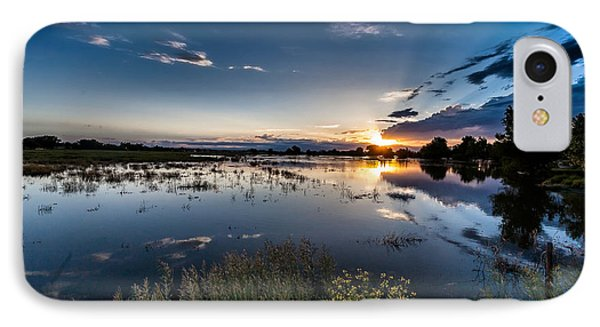 Sunset Over The River Phone Case by Steven Reed