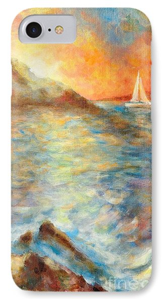 Sunset Over The Sea. IPhone Case by Martin Capek