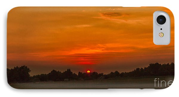 Sunset Over The Sport Complex IPhone Case by Robert Bales
