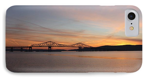 Sunset Over The Tappan Zee Bridge IPhone Case by John Telfer