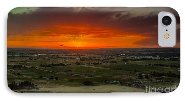 Sunset Over The Valley IPhone Case by Robert Bales